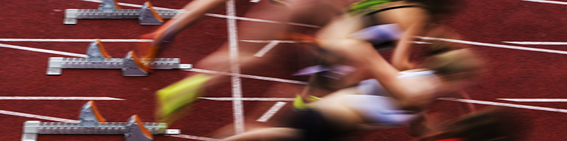 Leadership for individuals image - sprint start in track and field in blurred motion
